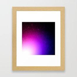 Fuchsia Purple Blue Ombre Framed Art Print