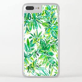 GREEN CANOPY Clear iPhone Case
