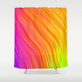stripes wave pattern 1 stdvi Shower Curtain