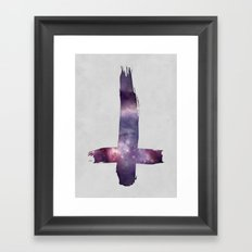 Space Cross Framed Art Print