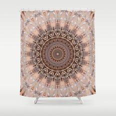 Mandala romantic pink Shower Curtain