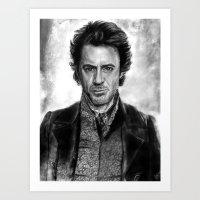 sherlock holmes Art Prints featuring Sherlock Holmes by ChrisPastel