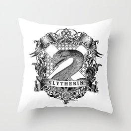 Slytherin Crest Throw Pillow