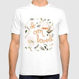 I Am Loved Botanical Print T-shirt
