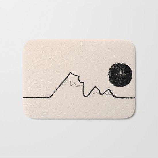 Black Moon Mountains Bath Mat