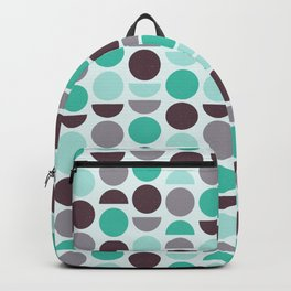 Vintage Retro Style Gameshow Mod Green and Brown Circular Shape Pattern Backpack
