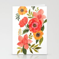 power Stationery Cards featuring FLOWER POWER by Oana Befort