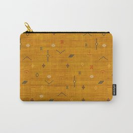 Cactus Silk In Gold Carry-All Pouch