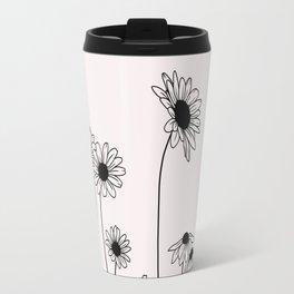 Daisy flowers illustration - Natural Travel Mug