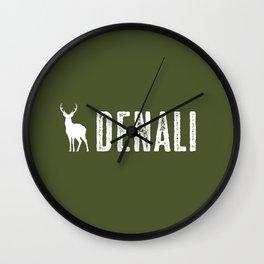 Denali NP, Alaska Deer Wall Clock