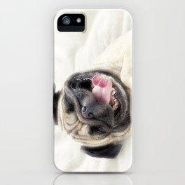 Smiling pug.Funny pug iPhone Case