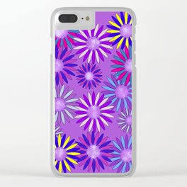 Ultra Violet Floral Poetry Clear iPhone Case