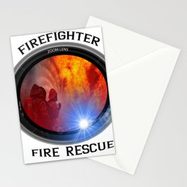 Firefighter rescue Stationery Cards