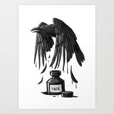 Ink Raven Art Print