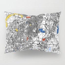 Kansas city mondrian map Pillow Sham