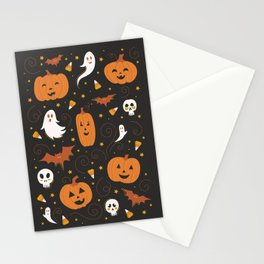 Pumpkin Party - Black Stationery Cards