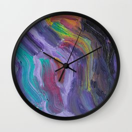 Mood Swings Into Darkness Wall Clock