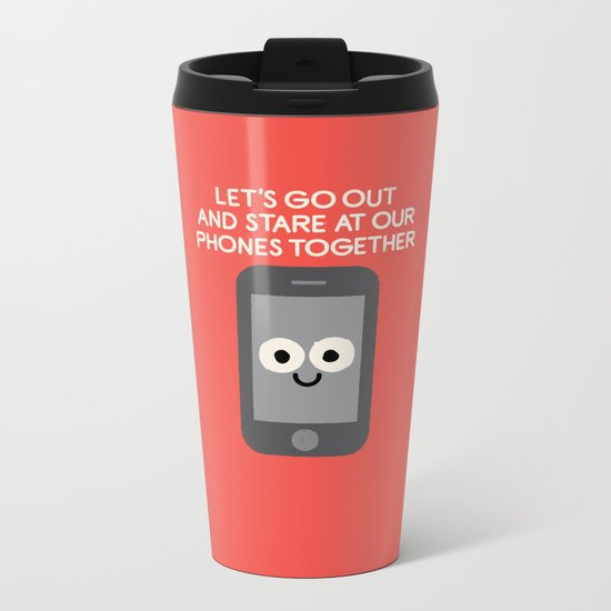 Emojionally Available Metal Travel Mug