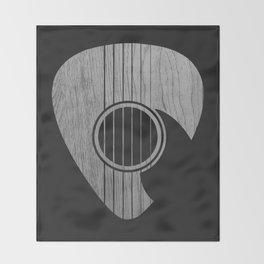 Strum... (White on Black) Throw Blanket