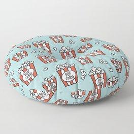 Movies and popcorn night food pop art pattern blue pattern Floor Pillow