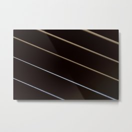 Guitar String Abstract 3 Metal Print