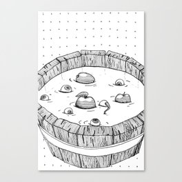 Barrel full of Eyes Canvas Print
