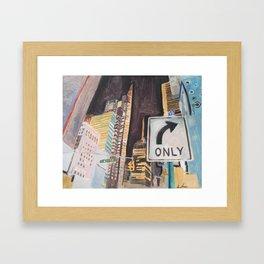 47 street Framed Art Print