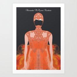 Alexander McQueen Aesthetic Art Print