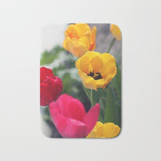 Сolorful tulips Bath Mat