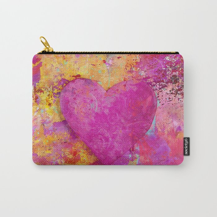original heart painting Crazy in Love Carry-All Pouch