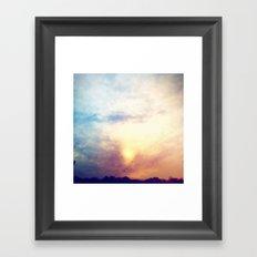 Before the storm, Framed Art Print