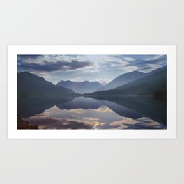 Mountain lake, Norway Art Print