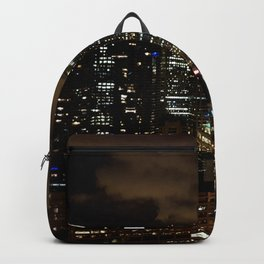 Chicago Night Skyline Backpack