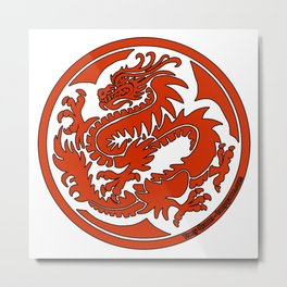 Tracy Queen - Crest of the Dragon Clan Metal Print