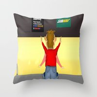 subway Throw Pillows featuring Subway by Dano77