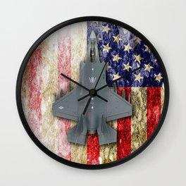 USAF Lockheed Martin F-35B Wall Clock