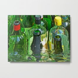 Bottles in the water Metal Print