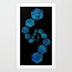 Blended Hexagons Art Print