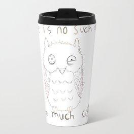 Coffee Owl Black and White Travel Mug