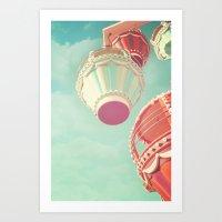 carnival Art Prints featuring Carnival  by Scarlett Ella