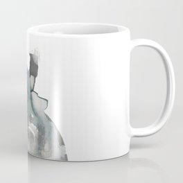 Begin: a minimal abstract mixed media piece Coffee Mug