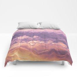 Gold violet pattern Comforters