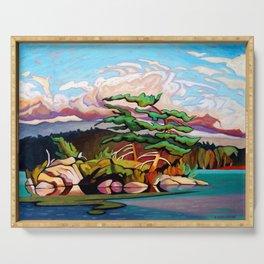 Juniper Islet by Amanda Martinson Serving Tray