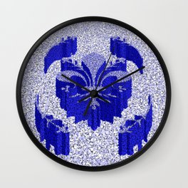 Florentine Blue Garden Wall Clock