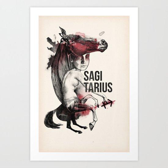 Zodiac serie: Sagittarius Art Print