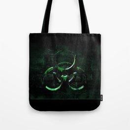 Green Grunge Biohazard Symbol Tote Bag