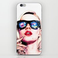 iggy azalea iPhone & iPod Skins featuring Iggy Azalea Portrait by Tiffany Taimoorazy
