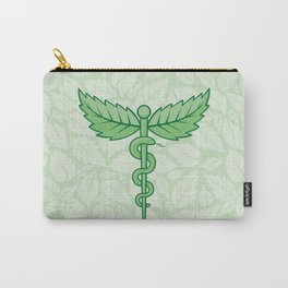 Caduceus with leaves Carry-All Pouch