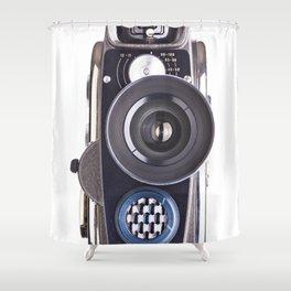 Retro hobbies movie camera Shower Curtain