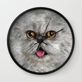 Funny Furry Cat Wall Clock